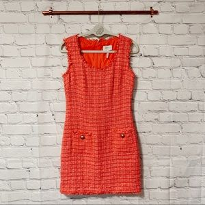 Laundry by Shelli Segal pink tweed dress